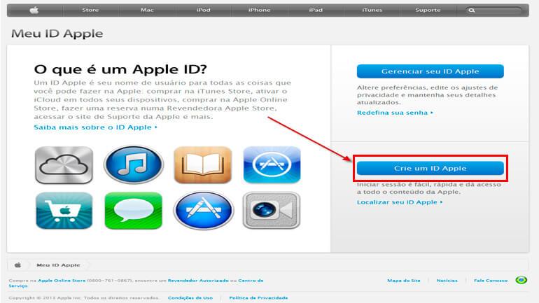 Criar ID Apple