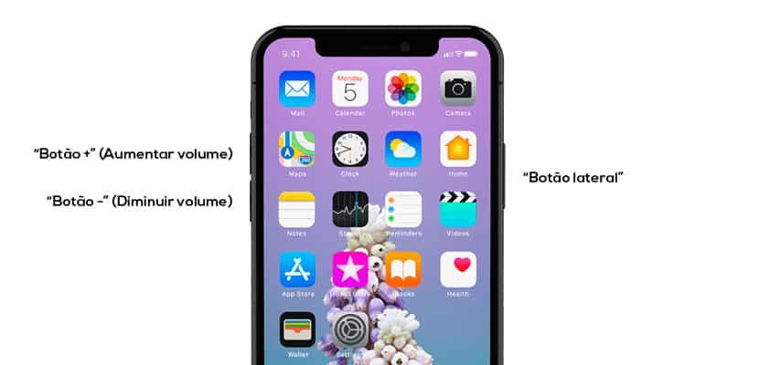 Soft Reset no iPhone X