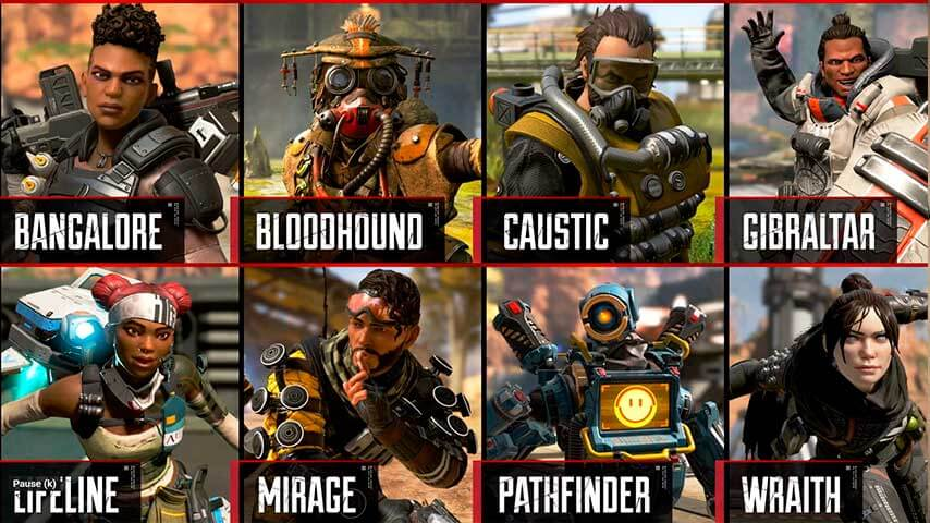 Lendas de Apex Legends